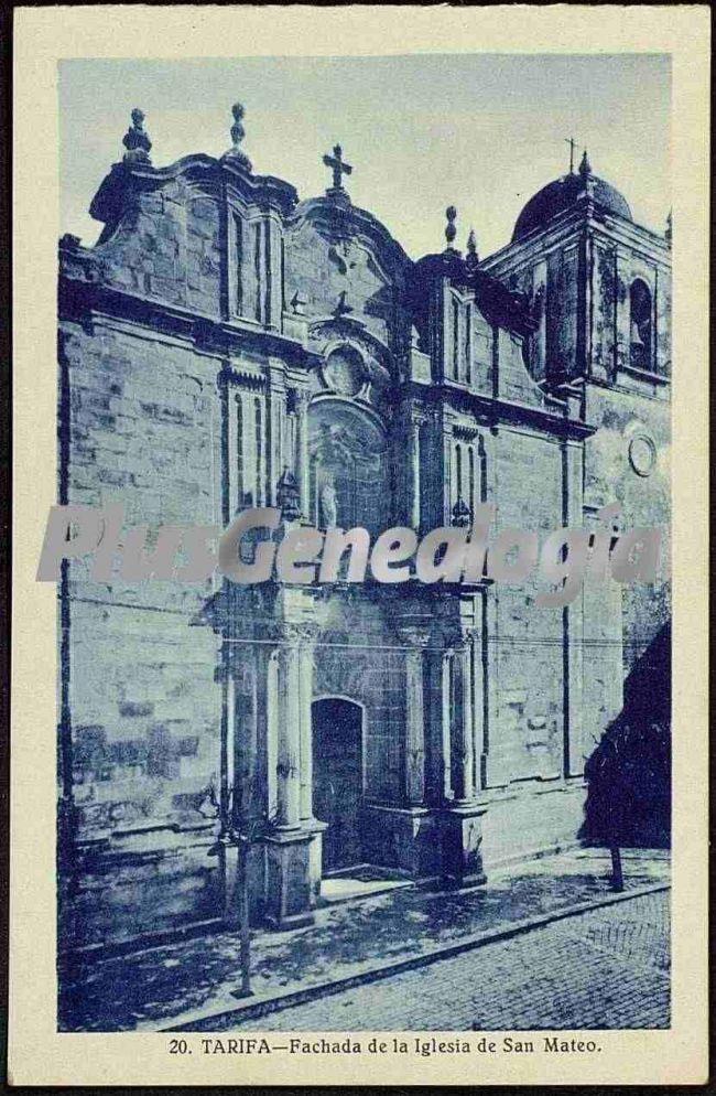 Fachada de la iglesia de san mateo en tarifa