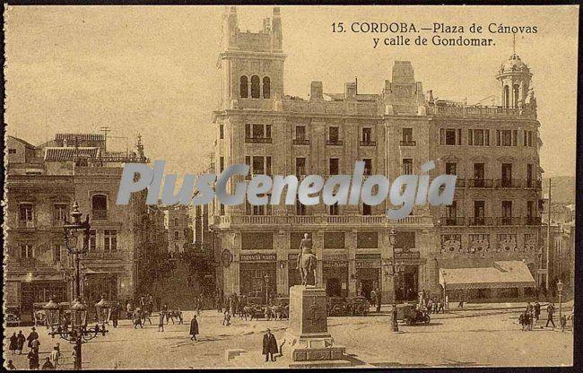 Plaza de cánovas y calle de gondomar en córdoba