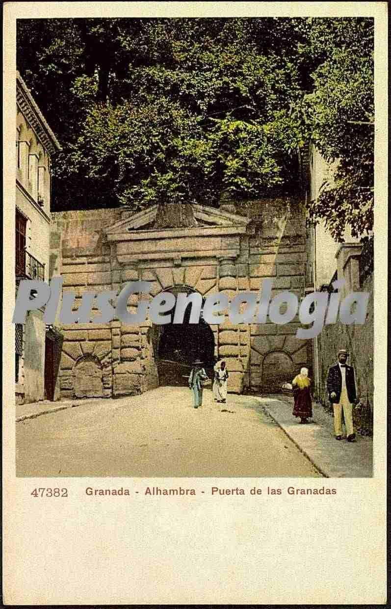 Puerta De Las Granadas De La Alhambra De Granada Fotos