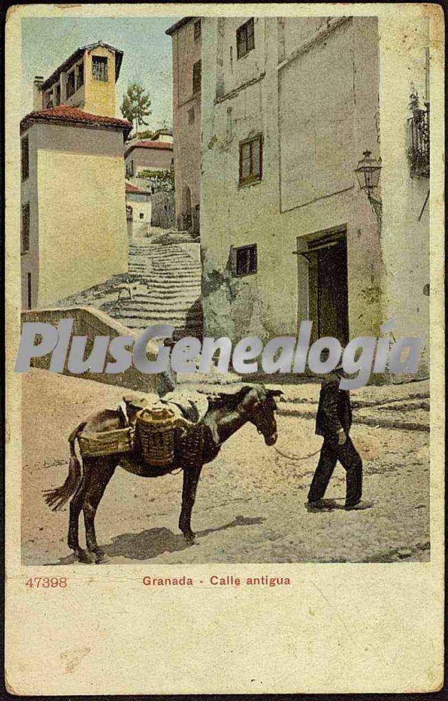 Calle antigua de granada