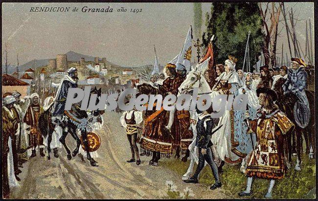 Rendición de granada años 1492