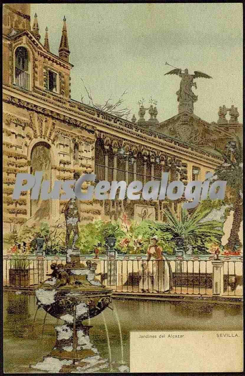 Jardines del alc zar de sevilla fotos antiguas - Jardines del eden sevilla ...