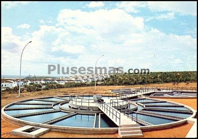 Abastecimiento de aguas a sevilla. estación depuradora