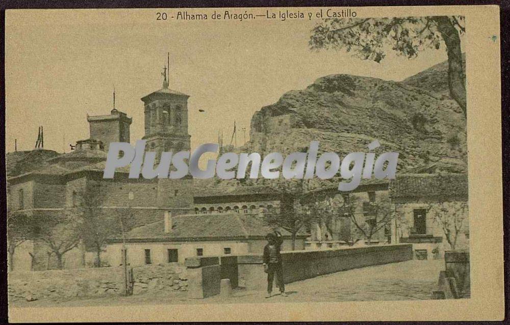 Alhama de Aragon Spain  City pictures : La iglesia y el castillo de alhama de aragón zaragoza Fotos ...
