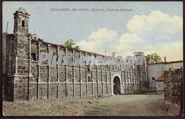 La fachada principal del monasterio de piedra (zaragoza)