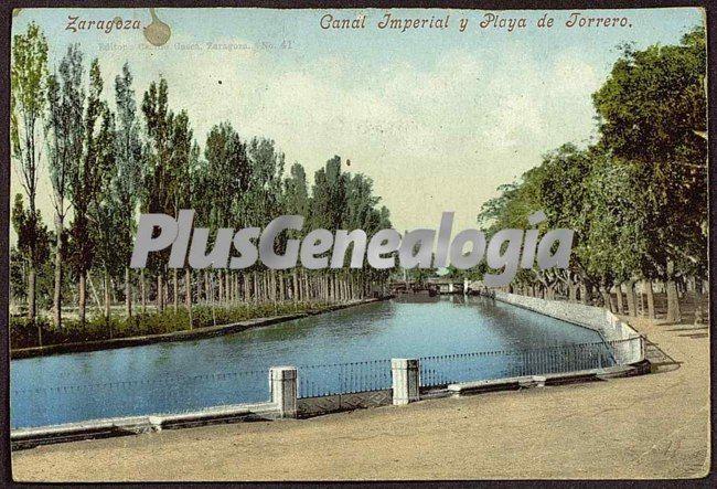 Canal imperial y playa de torreo de zaragoza