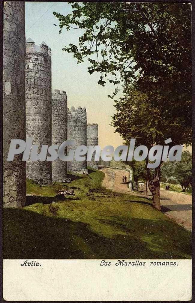 Las murallas romanas de ávila (a color)