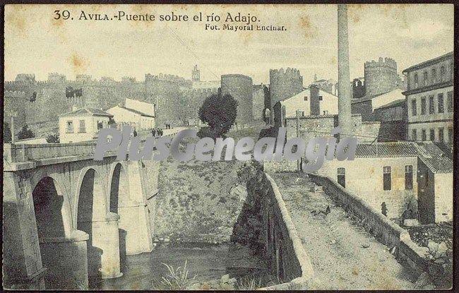 Puente sobre el río adajo a su paso por ávila