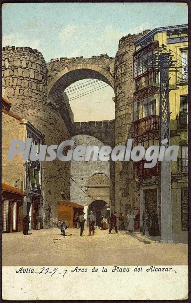 Pintura del arco de la plaza del alcazar de ávila