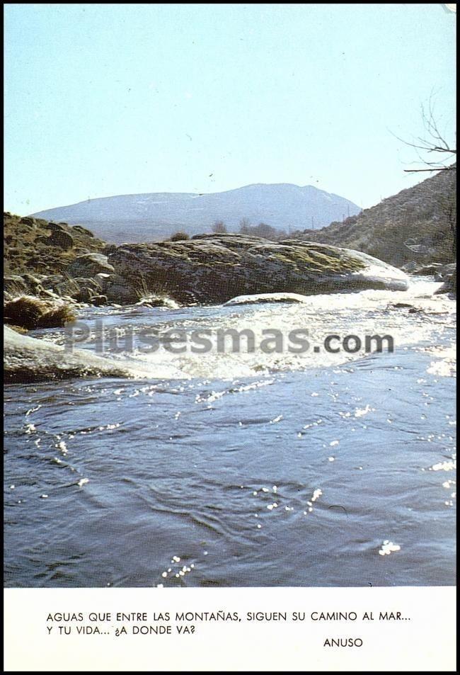 Río alberche a su paso por el puerto pico (ávila)