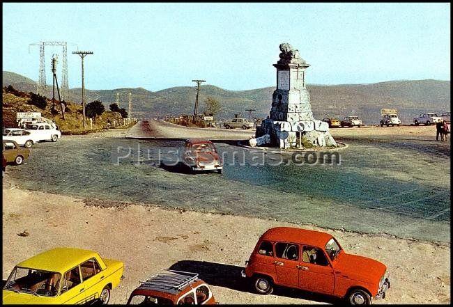 Puerto de guadarrama o puerto alto de los leones de castilla (segovia)