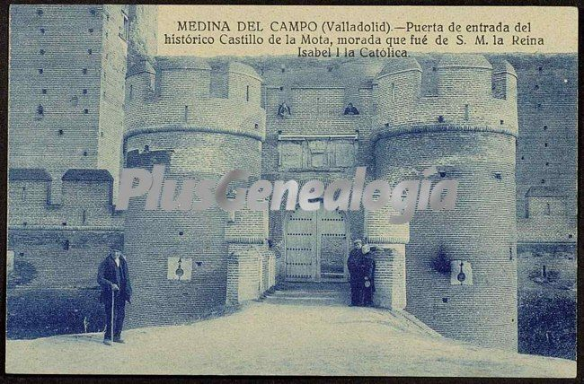 Puerta de entrada del hist rico castillo de la mota de for Puertas de campo antiguas