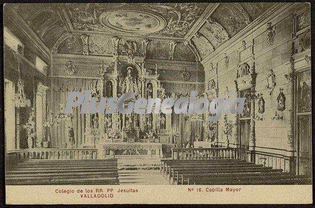 Capilla mayor del colegio de los rr.pp. jesuitas de valladolid