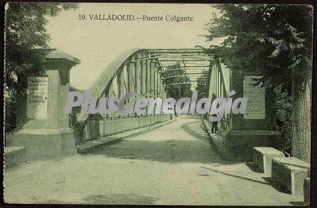 Vista cercana del puente colgante de valladolid