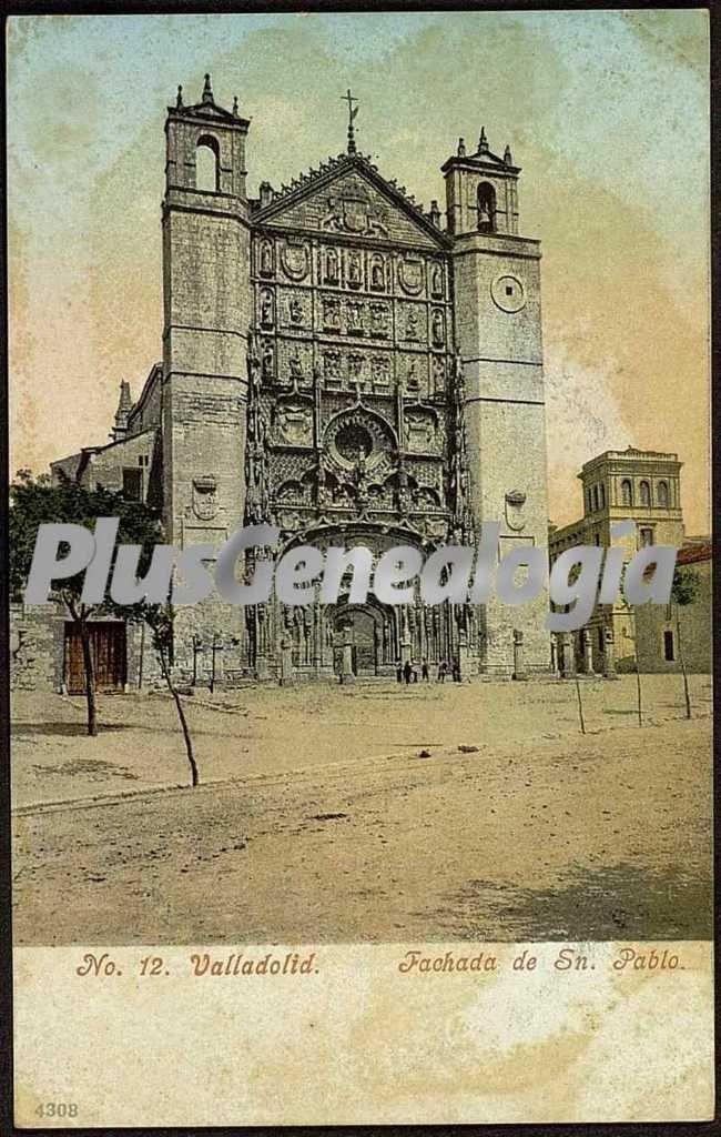 Vista vertical de la fachada de san pablo de valladolid