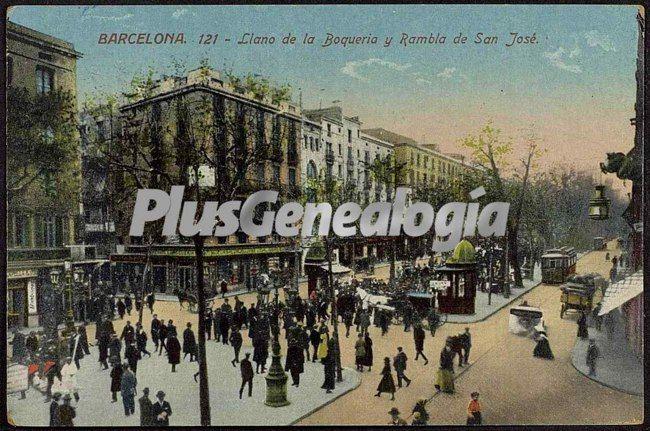 Llano de la boquer a y rambla de san jos en barcelona - Barcelona san jose ...