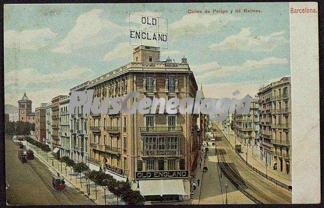 Calles de pelayo y de balmes en barcelona fotos antiguas for Oficinas de pelayo en barcelona