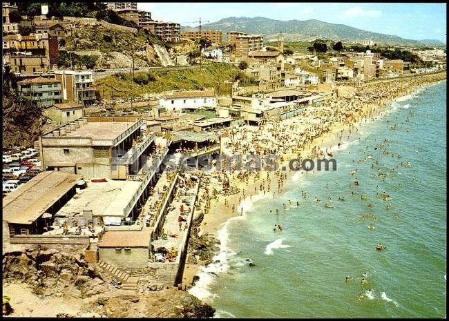 Antiguos Baños Montgat: el litoral de montgat la de los antiguos baños de san gerardo y la