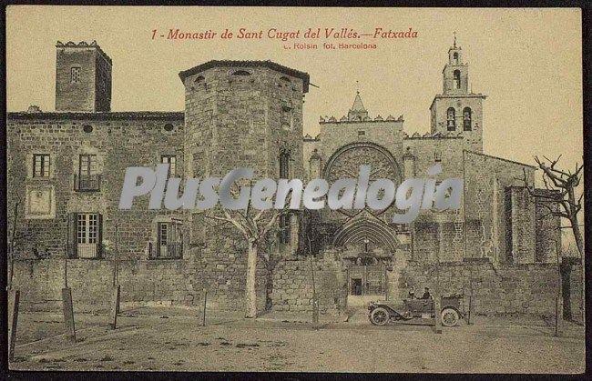 Fatxada del monastir de sant cugat del vall s barcelona - Mas duran sant quirze del valles ...