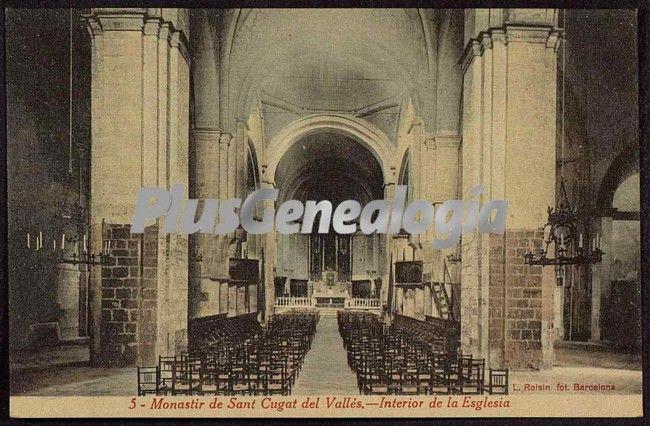 Interior de la eglesia del monastir de sant cugat del - Mas duran sant quirze del valles ...