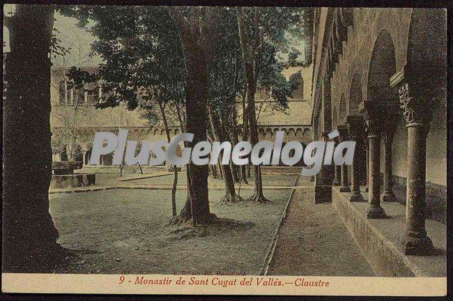 Vista del claustro del monasterio de sant cugat del vall s - Mas duran sant quirze del valles ...