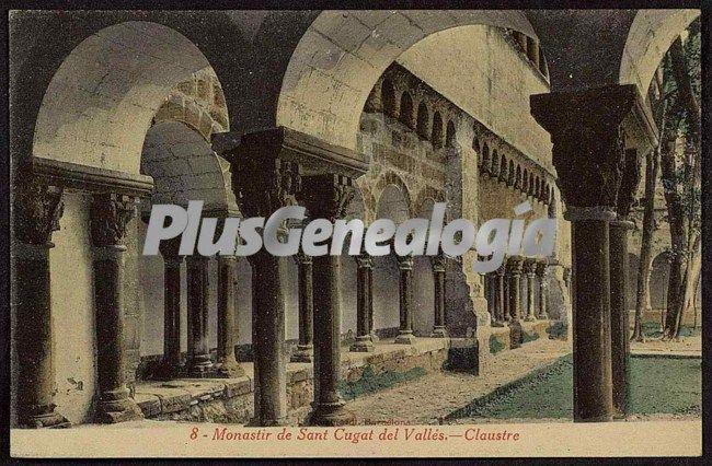 Arcos del claustro del monastir de sant cugat del vall s - Mas duran sant quirze del valles ...