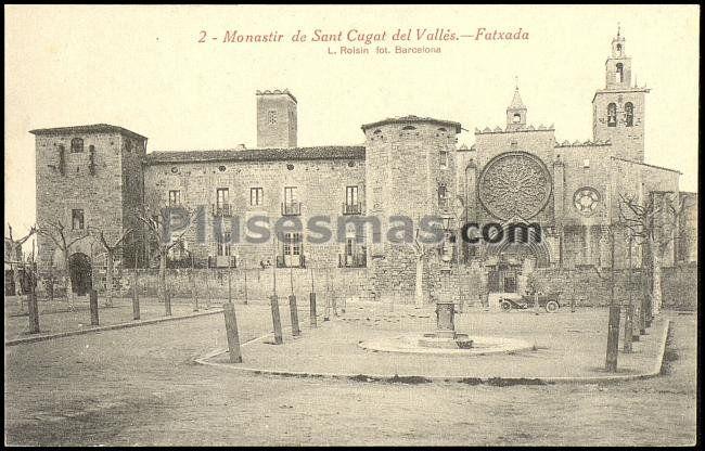 Monasterio de sant cugat del vall s fachada en barcelona - Mudanzas sant cugat del valles ...