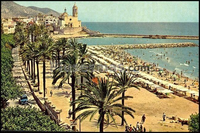 Paseo ribera y playa fotos antiguas - Fotos de sitges barcelona ...