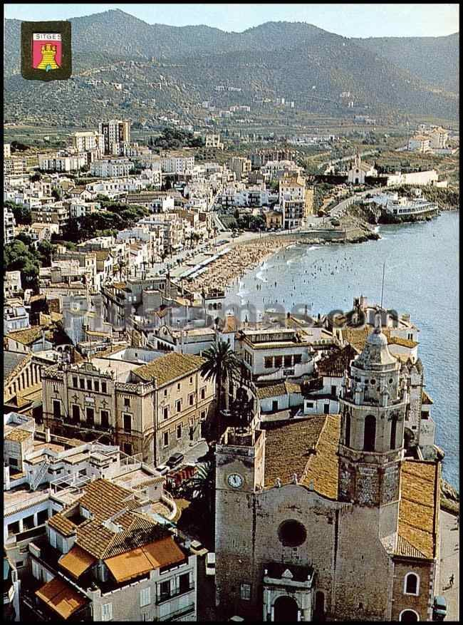 Iglesia maricel y playa de san sebastian en sitges barcelona fotos antiguas - Fotos de sitges barcelona ...