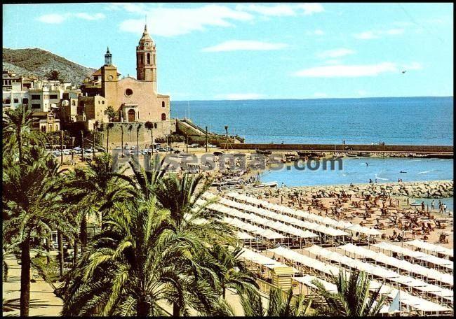 Paseo e iglesia de sitges barcelona fotos antiguas - Fotos de sitges barcelona ...