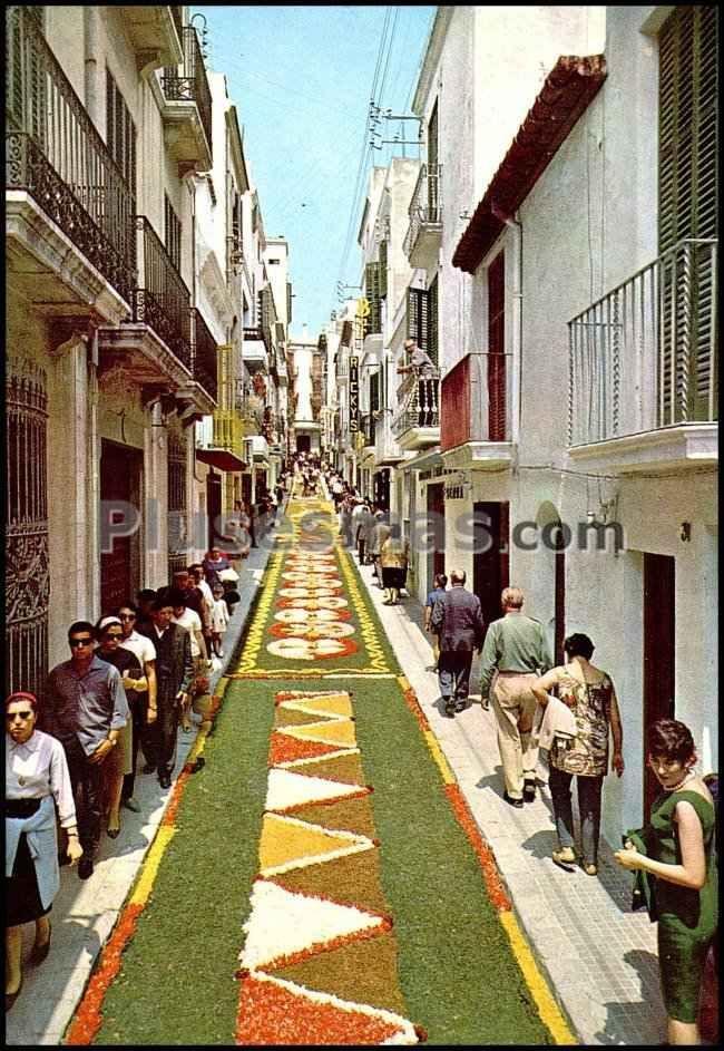 Corpus christi alfombras de flores barcelona fotos antiguas - Fotos de sitges barcelona ...