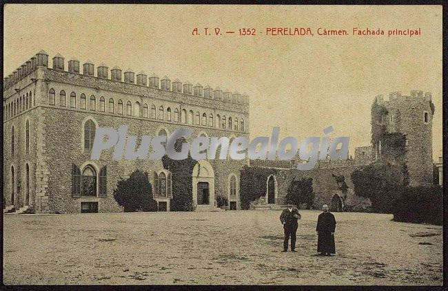 Fachada principal del castillo de perelada (girona)