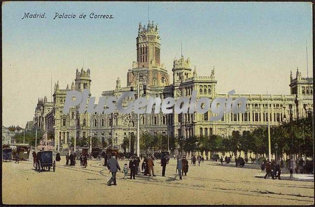 Palacio de correos de madrid en color fotos antiguas for Correo comunidad de madrid