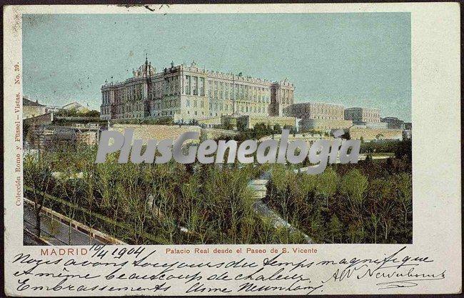 Palacio real de madrid visto desde el paseo de san vicente fotos antiguas - San vicente del palacio ...