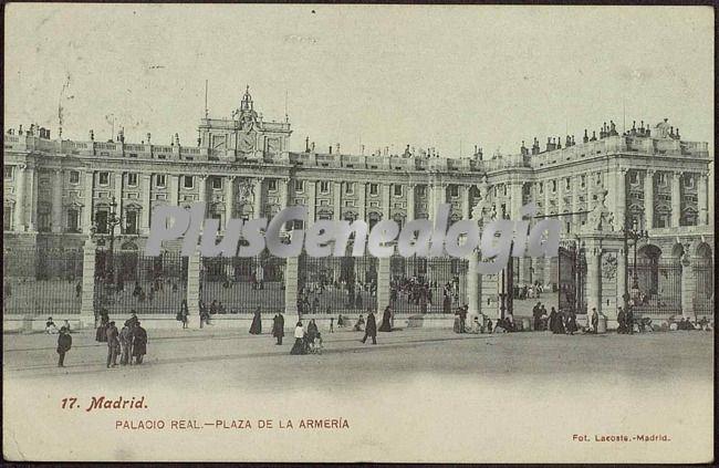Palacio real en madrid plaza de la armer a fotos antiguas for Comunidad de madrid rea