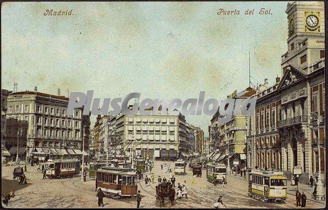 Puerta del sol de madrid en color fotos antiguas for Correo comunidad de madrid