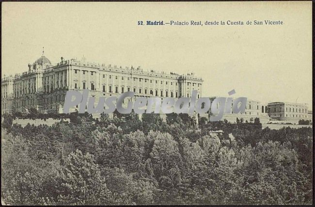 Palacio real de madrid visto desde la cuesta de san vicente fotos antiguas - San vicente del palacio ...