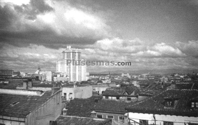 Plaza España de Madrid 1950