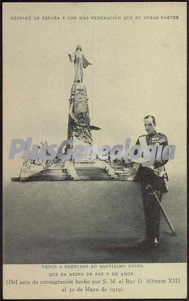 Acto de Consagración hecho por El Rey Alfonso XIII en Madrid el 30 de Mayo de 1919