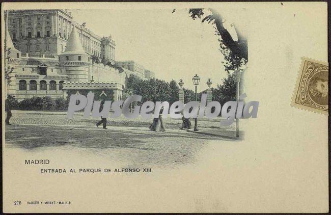 Entrada al Parque de Alfonso XIII en Madrid