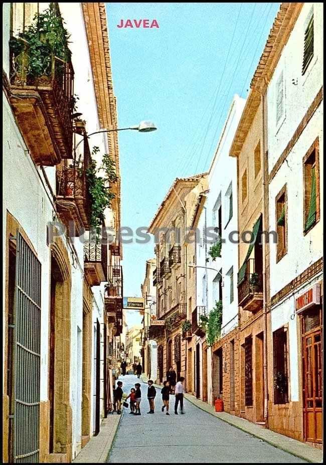 Calle mayor de jávea (alicante)
