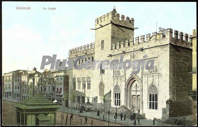 La lonja en valencia fotos antiguas for Fotos antiguas de valencia