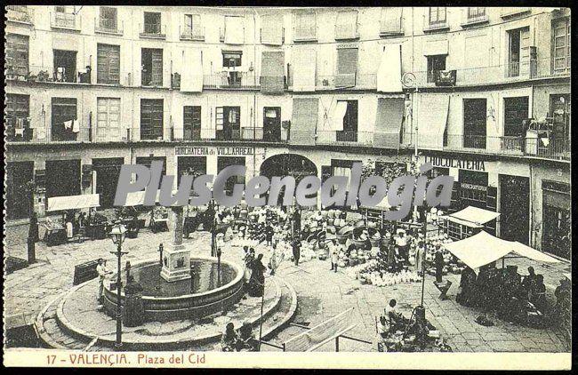 Plaza del cid de valencia fotos antiguas for Fotos antiguas de valencia