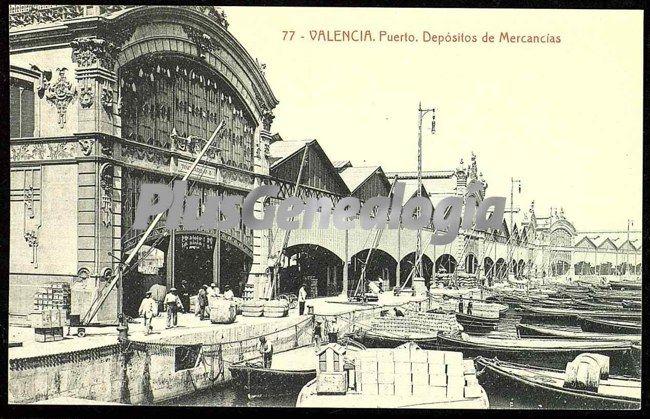 Dep sitos de mercanc as del puerto de valencia fotos for Fotos antiguas de valencia