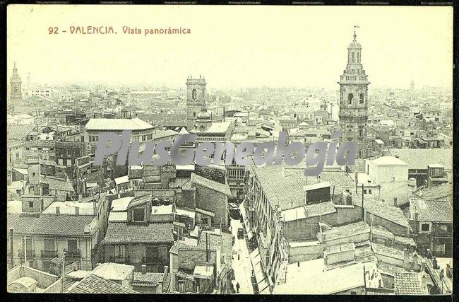 Vista panor mica de valencia fotos antiguas for Fotos antiguas de valencia