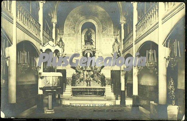 Interior de la iglesia del asilo de san juan de dios de valencia