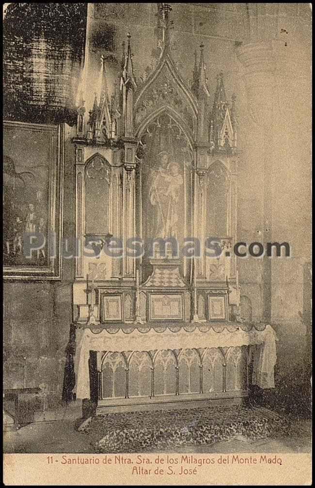 Santuario de ntra. sra. de los milagros del monte medo. altar de san josé en orense
