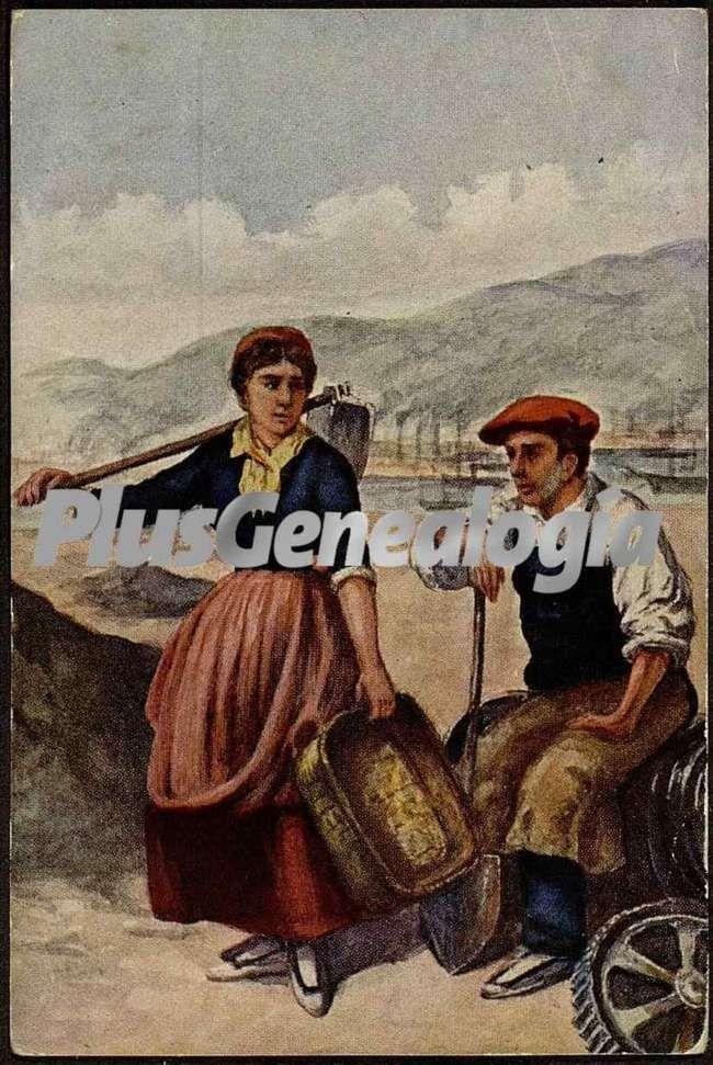 Lugareños de bilbao trabajando