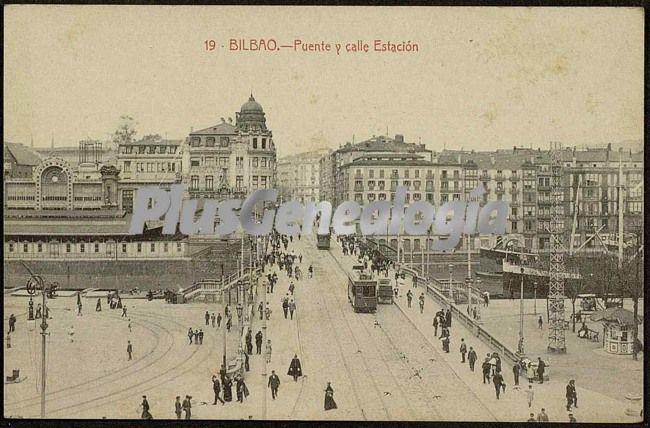 Puente y calle estación de bilbao