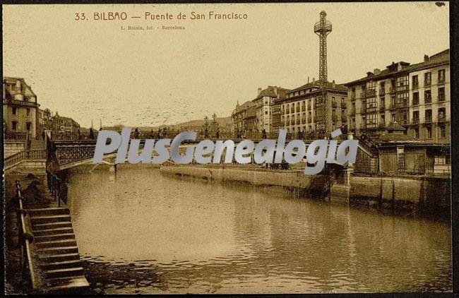 Puente de san francisco visto a pie de calle de bilbao